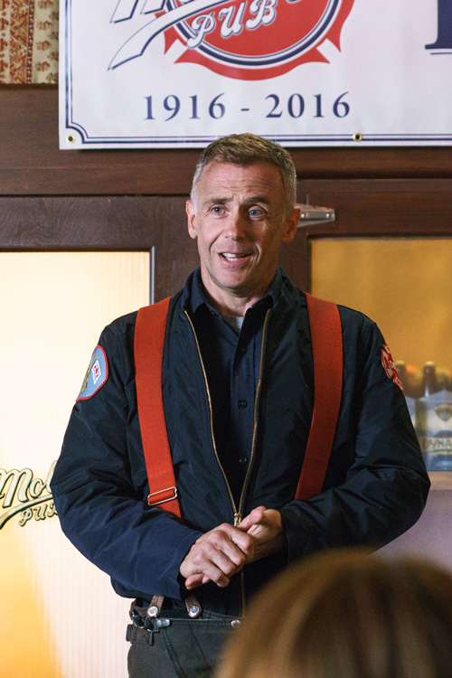 """No Crops: CHICAGO FIRE -- """"One Hundred"""" Episode 508 -- Pictured: David Eigenberg as Christopher Herrmann -- (Photo by: Parrish Lewis/NBC)"""