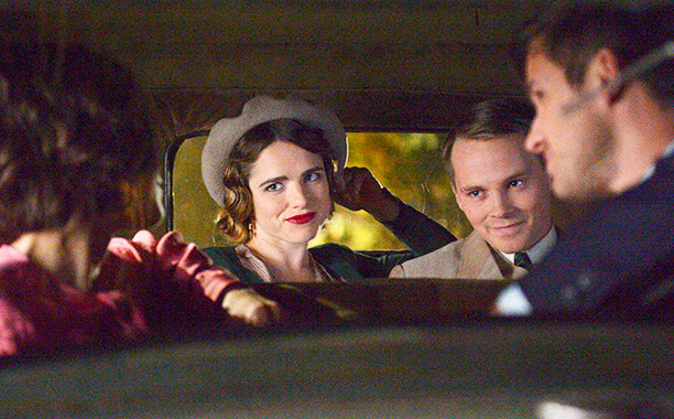 "RECAP: 12/5/16: ALL CROPS: TIMELESS -- ""Last Ride of Bonnie & Clyde"" Episode 108 -- Pictured: (l-r) Jacqueline Byers as Bonnie Parker, Sam Strike as Clyde Barrow -- (Photo by: Sergei Bachlakov/NBC) NUP_176252_0667.JPG Monday, December 5"