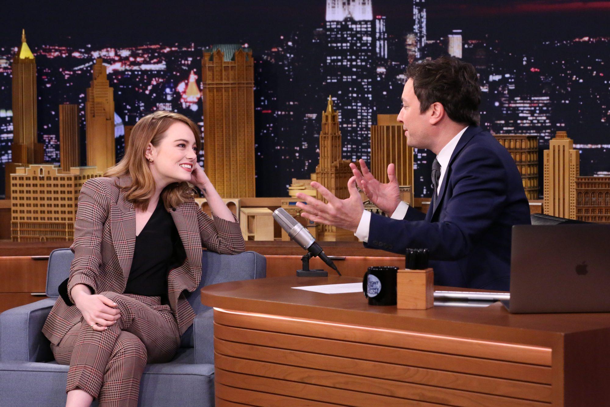Emma Stone on Fallon