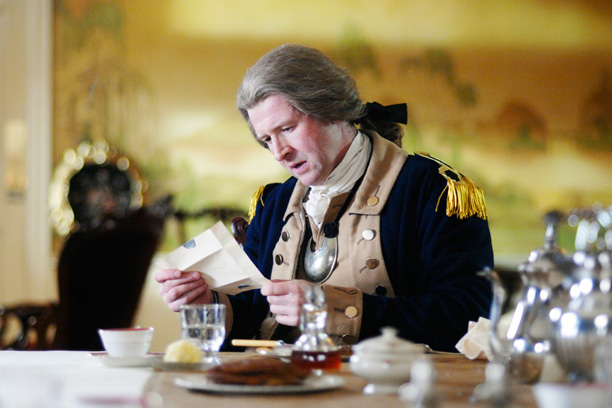 "RECAP: 12/12/16: All Crops: TIMELESS -- ""The Capture of Benedict Arnold"" Episode 109 -- Pictured: Damian O'Hare as George Washington -- (Photo by: Sergei Bachlakov/NBC)"