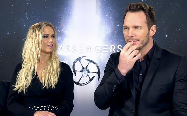 ALL CROPS: MOVIES | Jennifer Lawrence shocked by Chris Pratt's German during 'Passengers' junket (screen grab)