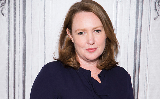 ALL CROPS: 612430470 Author Paula Hawkins attends AOL Build Series to discuss the new film 'Girl On The Train' at AOL HQ on October 4, 2016 in New York City. (Photo by Jenny Anderson/WireImage)