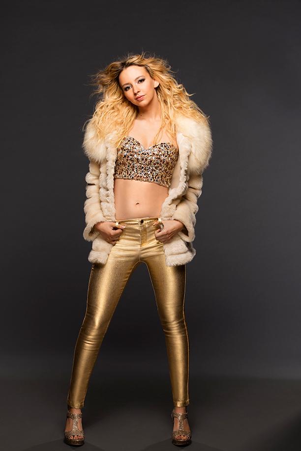 NO CROPS: Natasha Bassett as Britney Spears. Photo by Katie Yu