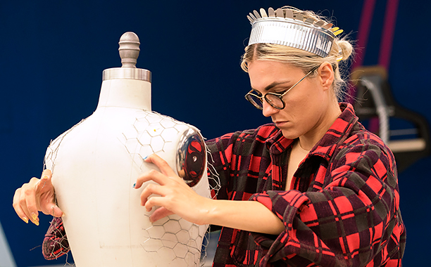 ALL CROPS: RECAP 12/01/16 Project Runway Erin Robertson working on a design in Project Runway season 15, airing Thursday, December 1, at 9pm ET/PT on Lifetime. Photo by Barbara Nitke Copyright 2016
