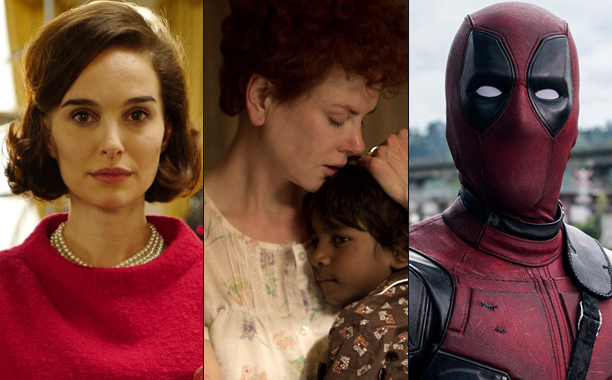 ALL CROPS: Natalie Portman for Jackie and Nicole Kidman for Lion, and Ryan Reynolds for Deadpool