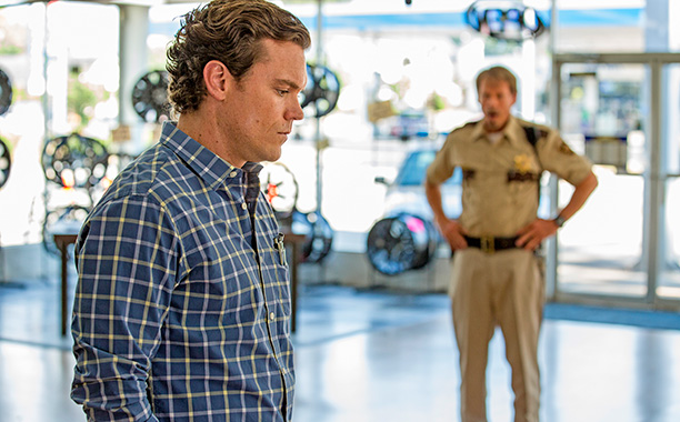 ALL CROPS: WTW: J.D. Evermore as Sheriff Carl Daggett, Clayne Crawford as Ted Talbot Jr. - Rectify _ Season 4, Episode 8 - Photo Credit: Jackson Lee Davis/Sundance TV Characters/Actors: Type: Photos Photo Credit:
