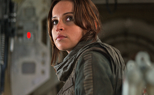 ALL CROPS: Rogue One: A Star Wars Story Jyn Erso (Felicity Jones) Photo credit: Lucasfilm/ILM ©2016 Lucasfilm Ltd. All Rights Reserved.