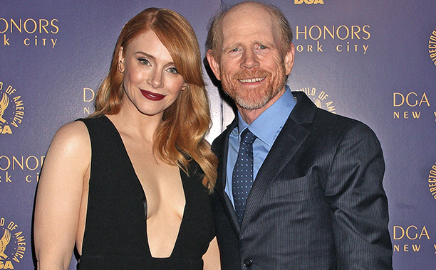 ALL CROPS: 492858944 Ron Howard and Bryce Dallas Howard attend the DGA Honors Gala 2015 on October 15, 2015 in New York City. (Photo by Laura Cavanaugh/FilmMagic