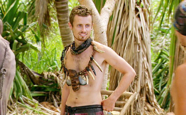 """All Crops: """"About to Have a Rumble"""" - Adam Klein on the twelfth episode of SURVIVOR: Millennials vs. Gen. X, Wednesday, Nov. 30 (8:00-9:00 PM, ET/PT) on the CBS Television Network. Photo: Screen Grab/CBS Entertainment"""