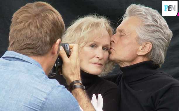 All Crops: Glenn Close / Michael Douglas PEN screen grab