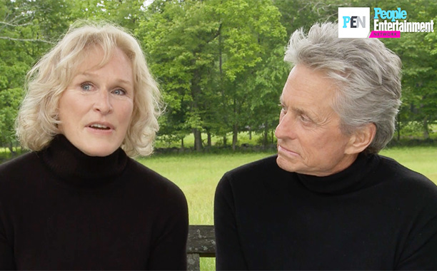 All Crops: Glenn Close Michael Douglas Screengrab
