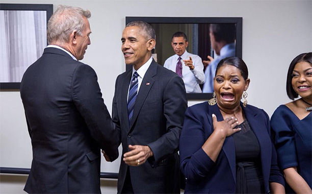 All Crops: Octavia Spencer and the cast of 'Hidden Figures' With Obama at Whitehouse Instagram
