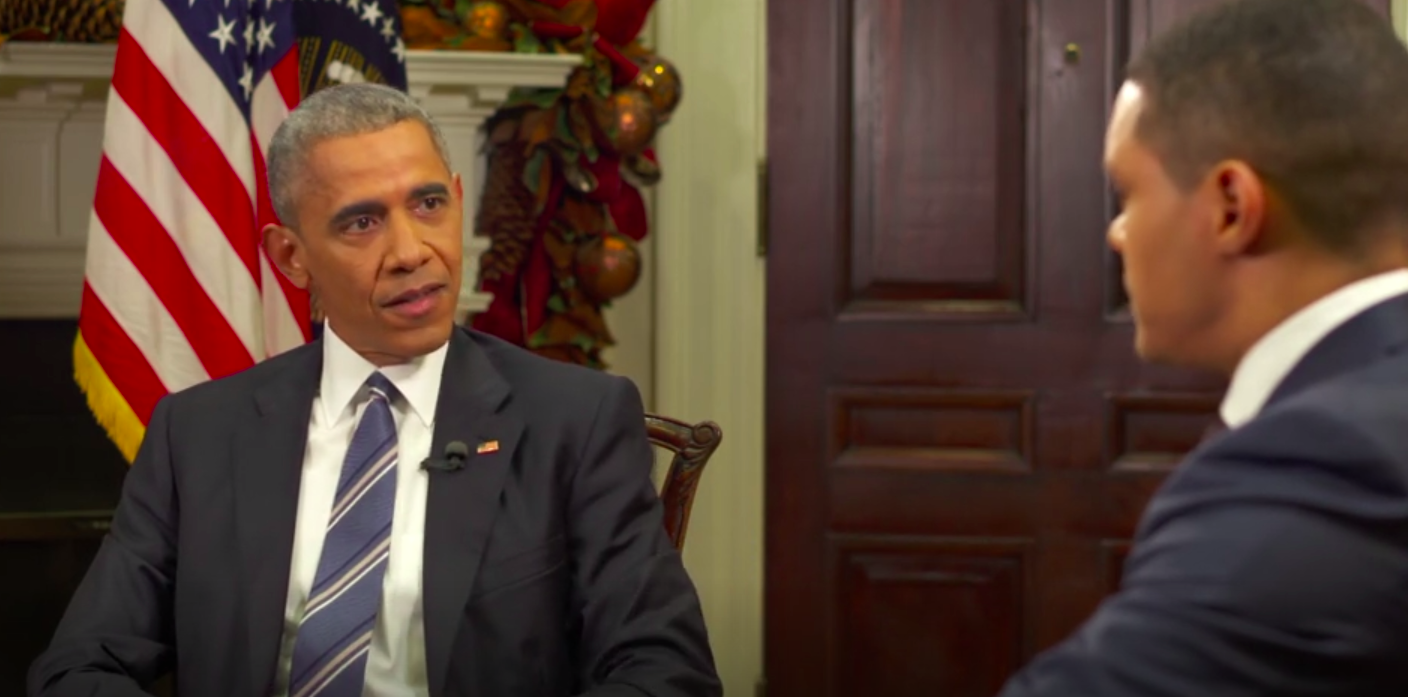 TV: Trevor Noah and Barack Obama