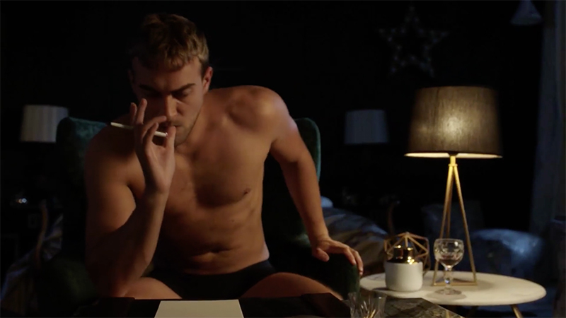 SCREENSHOT: Jasper shirtless on 'The Royals'