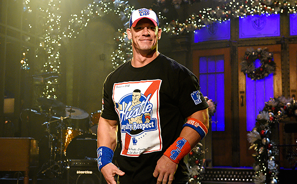 """ALL CROPS: SATURDAY NIGHT LIVE -- """"John Cena"""" Episode 1713 -- Pictured: Host John Cena on December 6, 2016 -- (Photo by: Rosalind O'Connor/NBC)"""
