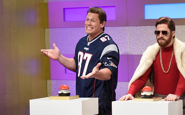"ALL CROPS: Saturday Night Live NUP_176570_0001.JPG Posted: December 7, 2016 Episodic SATURDAY NIGHT LIVE -- ""John Cena"" Episode 1713 -- Pictured:... Saturday, December 10 on NBC (11:30 p.m.-1 a.m. ET) ©2016/Will Heath/NBC"