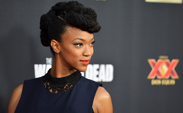 ALL CROPS: 456562924 Actress Sonequa Martin-Green arrives at the Season 5 premiere of AMC's 'The Walking Dead' at AMC Universal City Walk on October 2, 2014 in Universal City, California. (Photo by Amanda Edwards/WireImage)