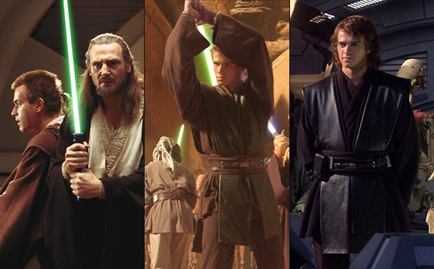 ALL CROPS: Star Wars - The Phantom Menace (1999); Attack of the Clones & Revenge of the Sith