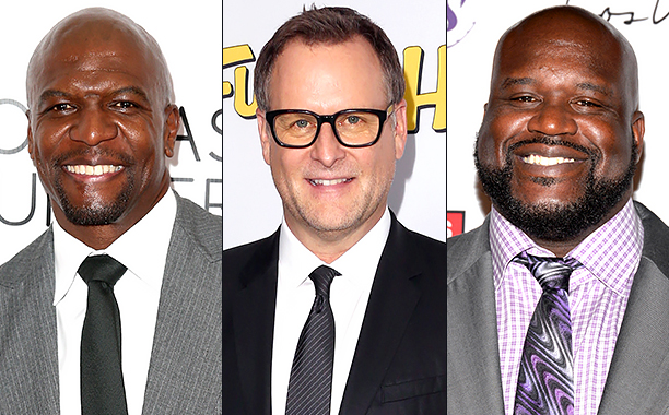 ALL CROPS: 499965666 Terry Crews (Photo by Joe Scarnici/Getty Images for March Of Dimes); 510735786 Dave Coulier (Photo by Frederick M. Brown/Getty Images); 506804238 Shaquille O'Neal (Photo by Michael Tullberg/Getty Images) Joe Scarnici/Getty Images;