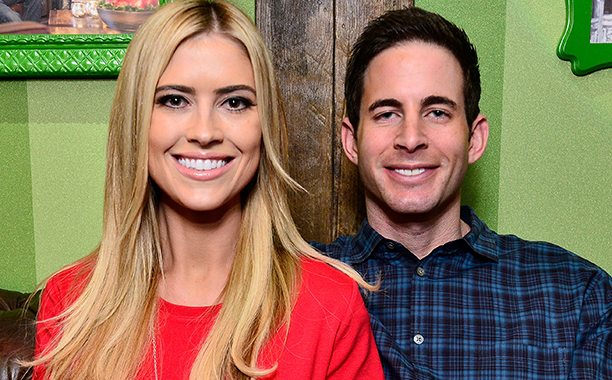 ALL CROPS: 460432996 Tarek and Christina El Moussa, hosts of HGTV's hit show Flip or Flop, visited the HGTV Santa HQ at Lakewood Center. The reality stars visited with Santa, toured the new digital Santa headquarters and celebrated the holidays with fans