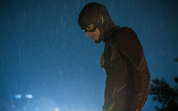 """ALL CROPS: The Flash -- """"The Present"""" -- Image FLA309a_0364b.jpg -- Pictured: Grant Gustin as The Flash -- Photo: Katie Yu/The CW -- © 2016 The CW Network, LLC. All rights reserved."""