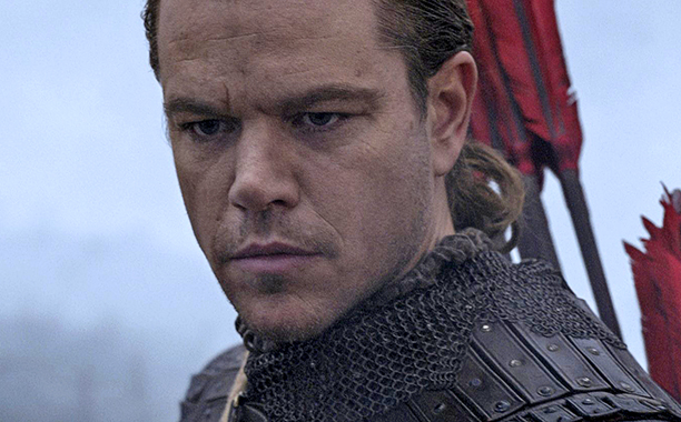 ALL CROPS: Matt Damon in The Great Wall (2016) Titles: The Great Wall : Matt Damon © 2016 -
