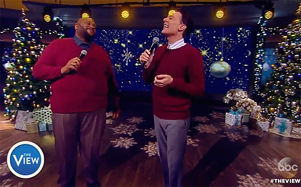 "ALL CROPS: Clay Aiken and Ruben Studdard Perform ""This Christmas"" on 'The View'"