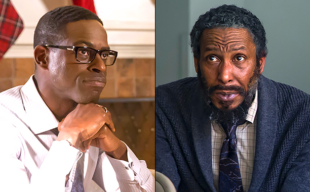 """ALL CROPS: THIS IS US -- """"Last Christmas"""" Episode 110 -- Pictured: Sterling K. Brown as Randall -- (Photo by: Ron Batzdorff/NBC); THIS IS US -- """"Last Christmas"""" Episode 110 -- Pictured: Ron Cephas Jones as William -- (Photo by: Ron Batzdorff/NBC)"""