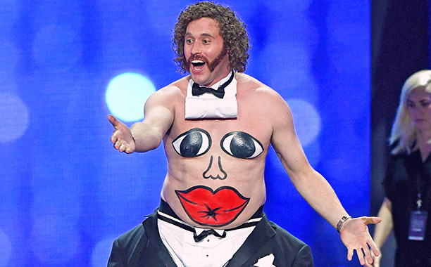 ALL CROPS: 629191350T.J. Miller performs onstage during the The 22nd Annual Critics' Choice Awards at Barker Hangar on December 11, 2016 in Santa Monica, California. (Photo by Ethan Miller/Getty Images)