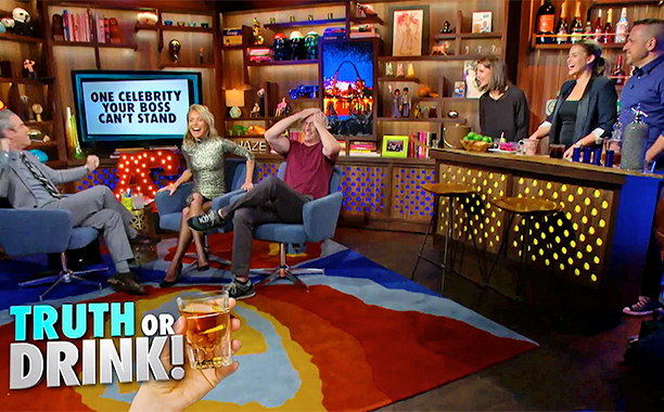 ALL CROPS: The Assistants Play Truth or Drink! screen grab WATCH WHAT HAPPENS LIVE