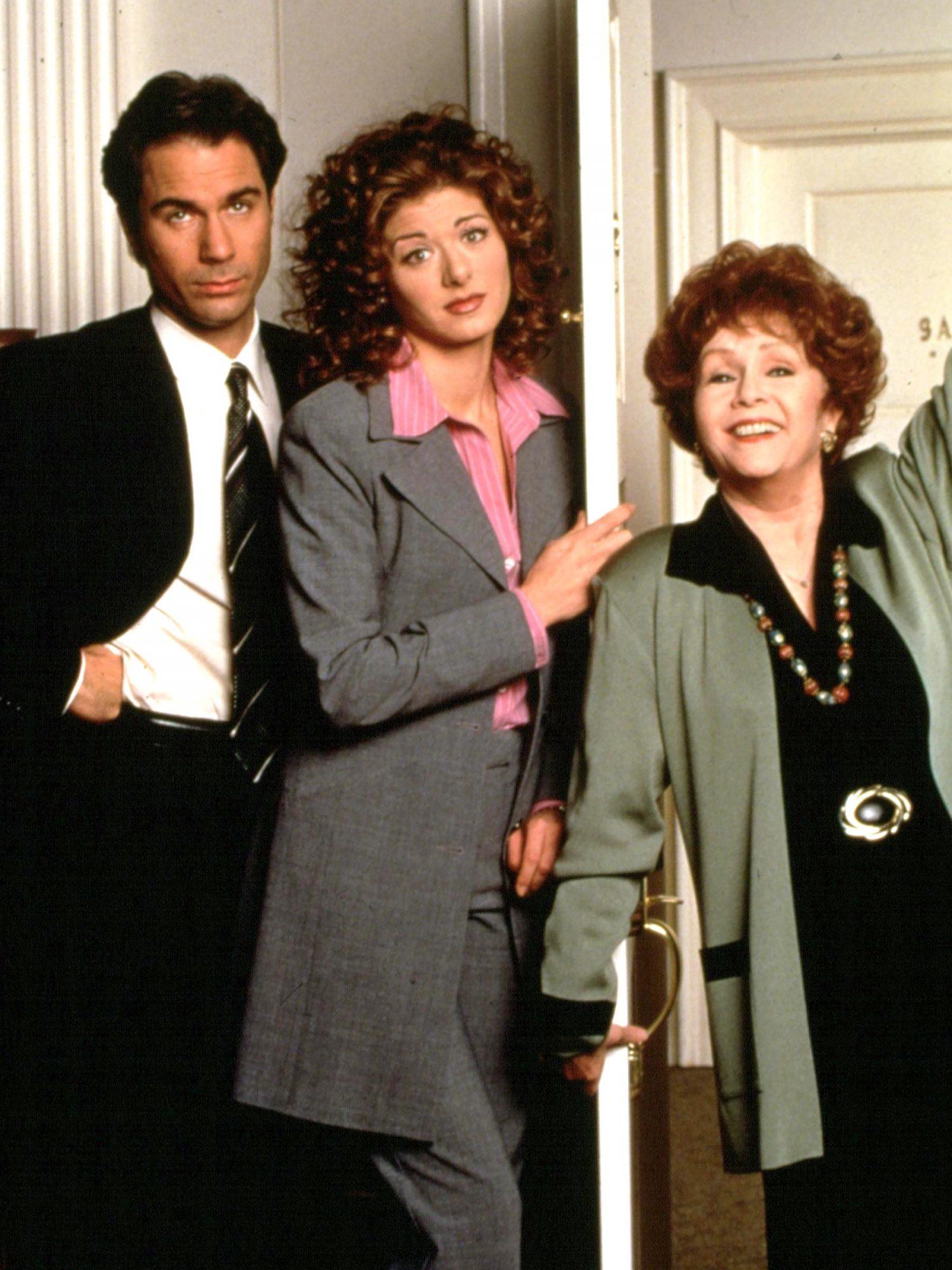 WILL & GRACE, Eric McCormack, Debra Messing, Debbie Reynolds, 1998-2006.