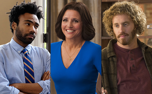 ALL CROPS: DONALD GLOVER ON ATLANTA, JULIA LOUIS-DREYFUS ON VEEP, TJ MILLER ON SILICON VALLEY