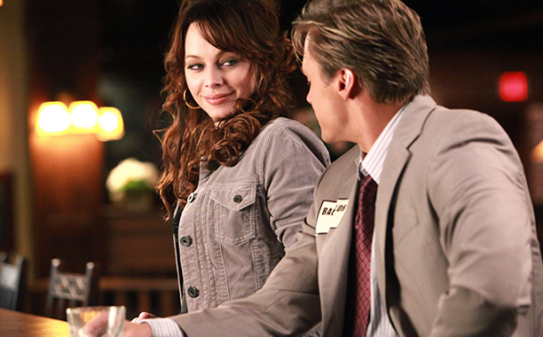 "ALL CROPS: ""A Few Good Men"" -- Pictured (L-R) Melinda Clarke as Kelly and Dax Griffin as Bachelor #3 in The Vampire Diaries on The CW. Photo: Quantrell Colbert / The CW"