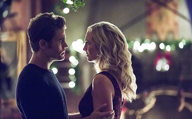 "RECAP: 12/9/16: ALL CROPS: The Vampire Diaries -- ""The Next Time I Hurt Somebody, It Could Be You"" --Image Number: VD807B_0325b.jpg -- Pictured: Paul Wesley as Stefan and Candice King as Caroline -- Photo: Bob Mahoney/The CW -- © 2016 The CW Network, LLC."