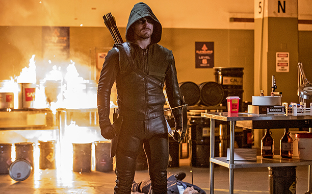 "ALL CROPS: Arrow -- ""What We Leave Behind"" -- Image AR509b_0060b.jpg -- Pictured: Stephen Amell as Oliver Queen/The Green Arrow -- Photo: Jack Rowand/The CW"