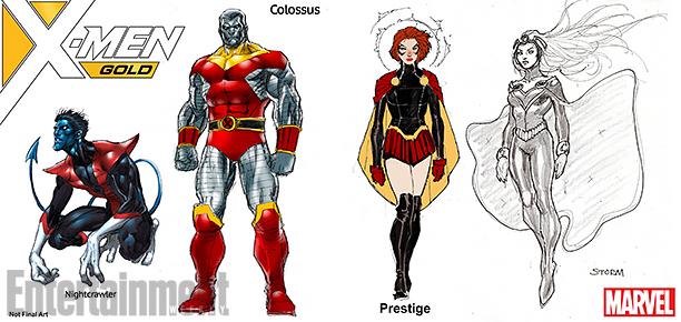 NO CROPS: *Exclusive* X-MEN Gold Character Designs CR: Marvel