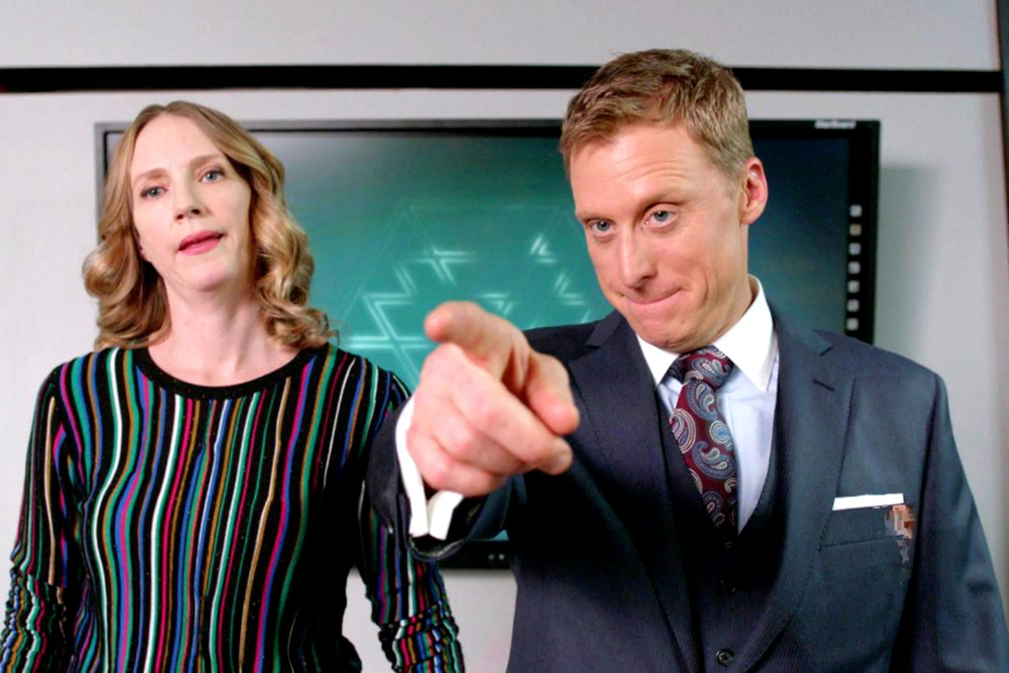 Alan Tudyk in Powerless (screen grab) CR: NBC