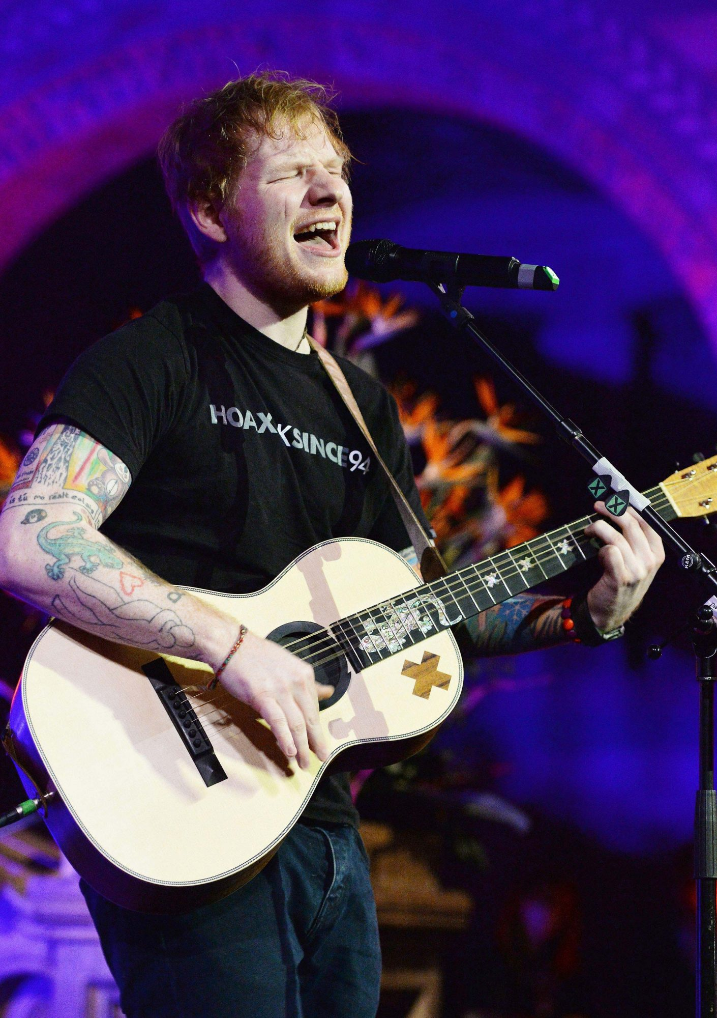 Ed Sheeran at East Anglia's Children's Hospices (EACH) gala dinner - London