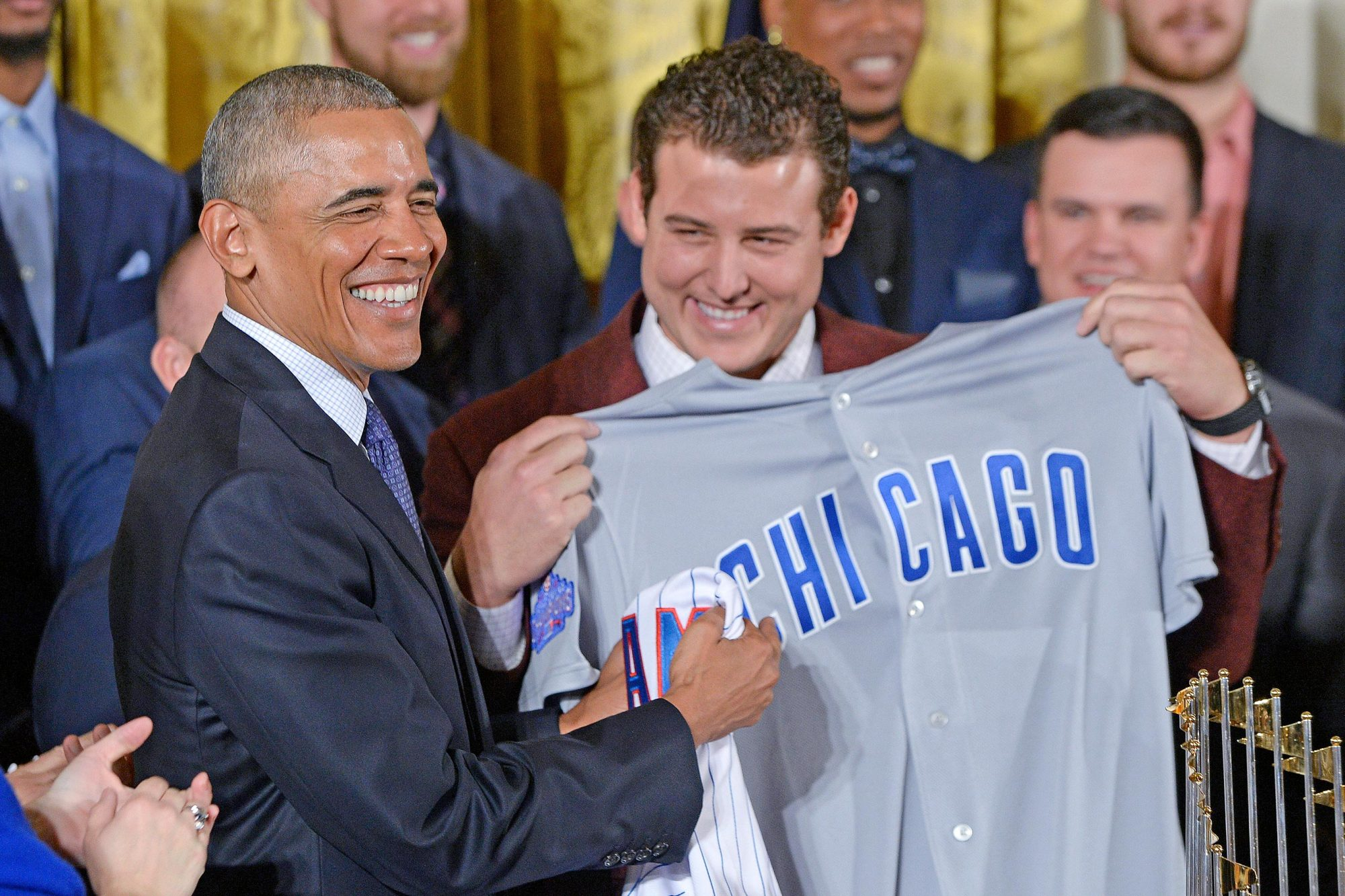President Obama Hosts The Chicago Cubs to the White House - DC