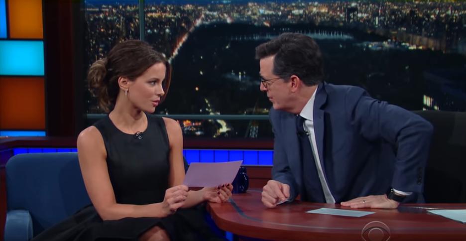 Kate Beckinsale on Colbert