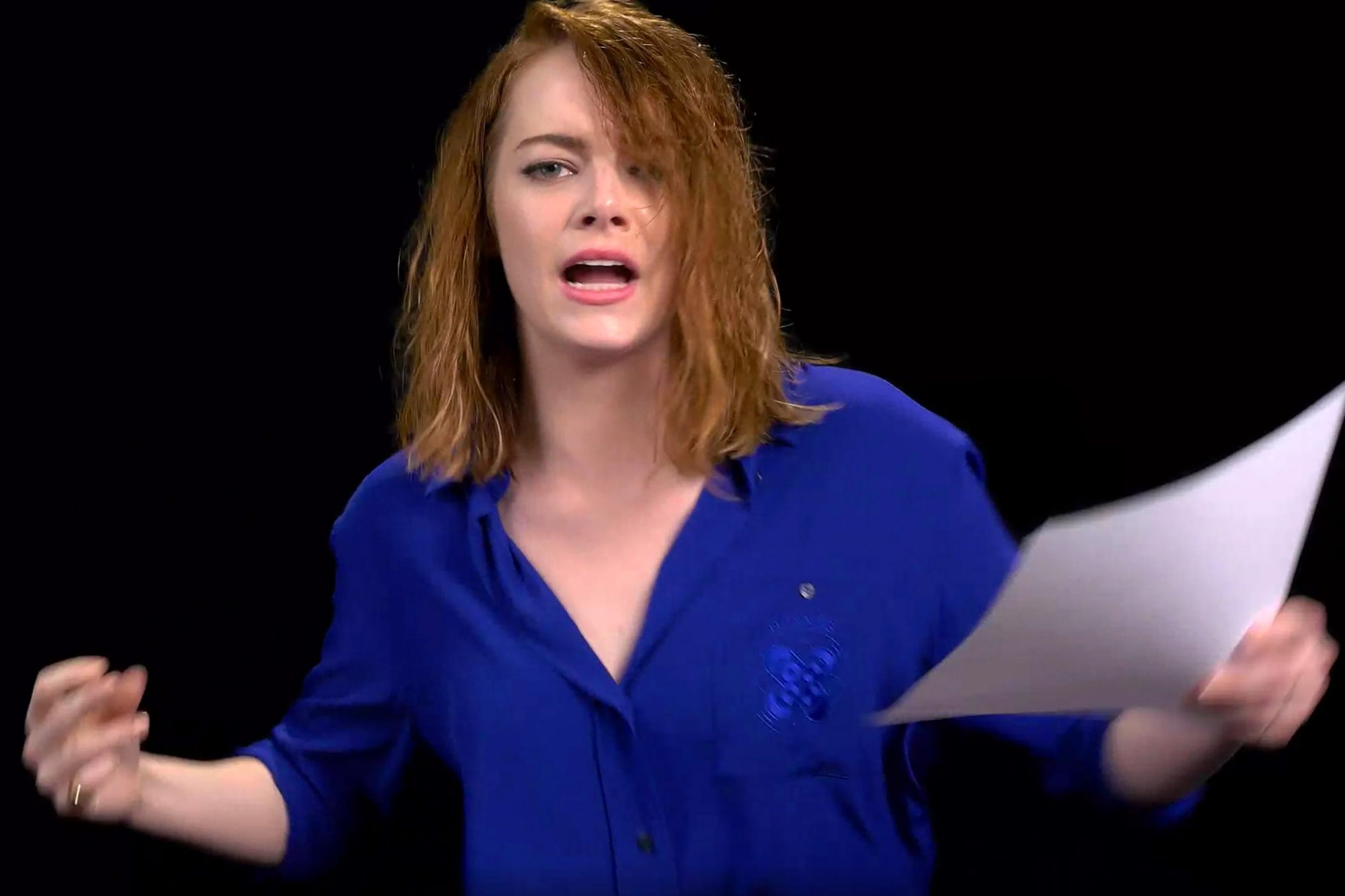 Emma Stone Singing (screen grab)