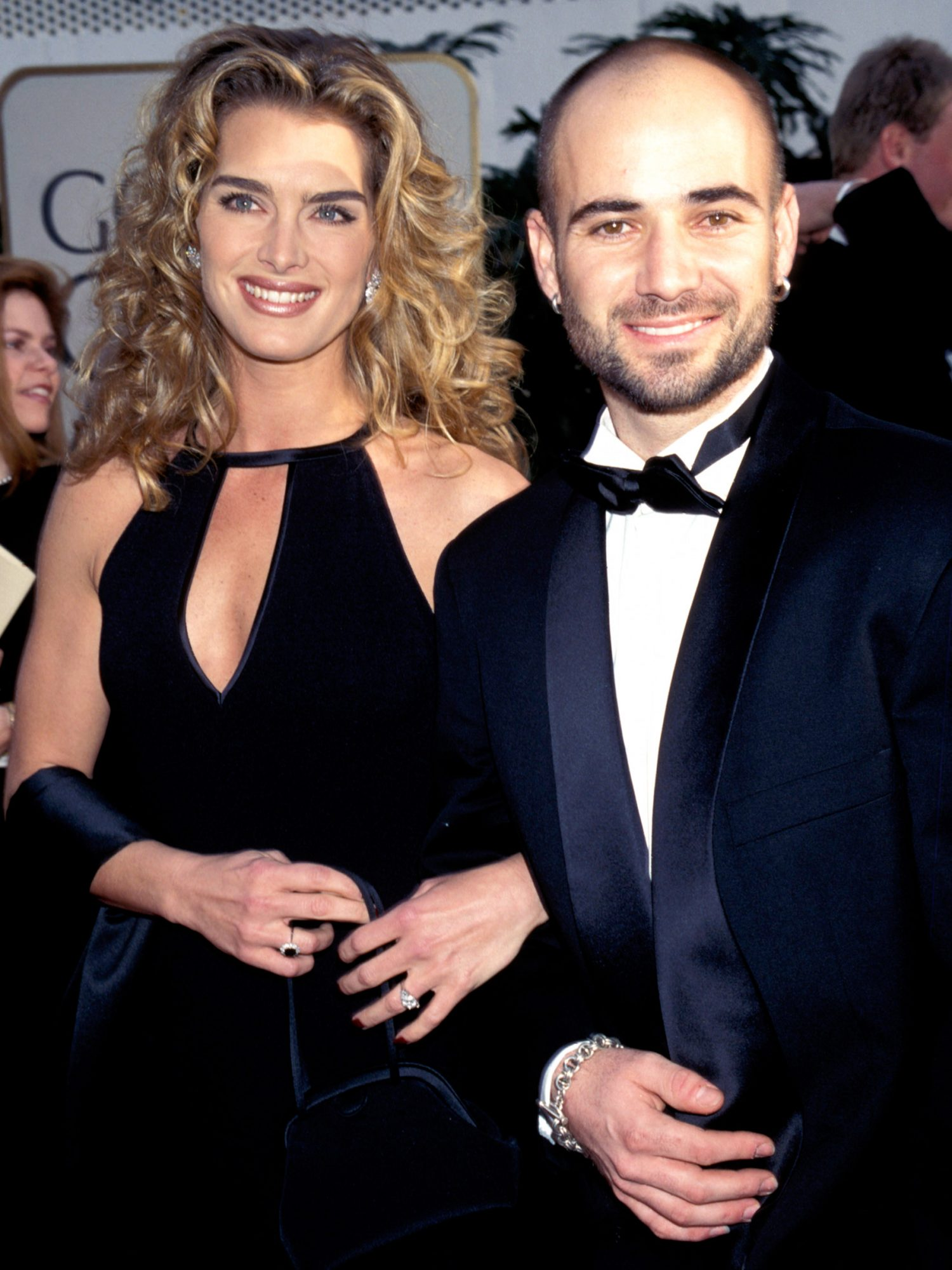 Andre Agassi and Best Actress in a Musical or Comedy Series Nominee Brooke Shields (Suddenly Susan)