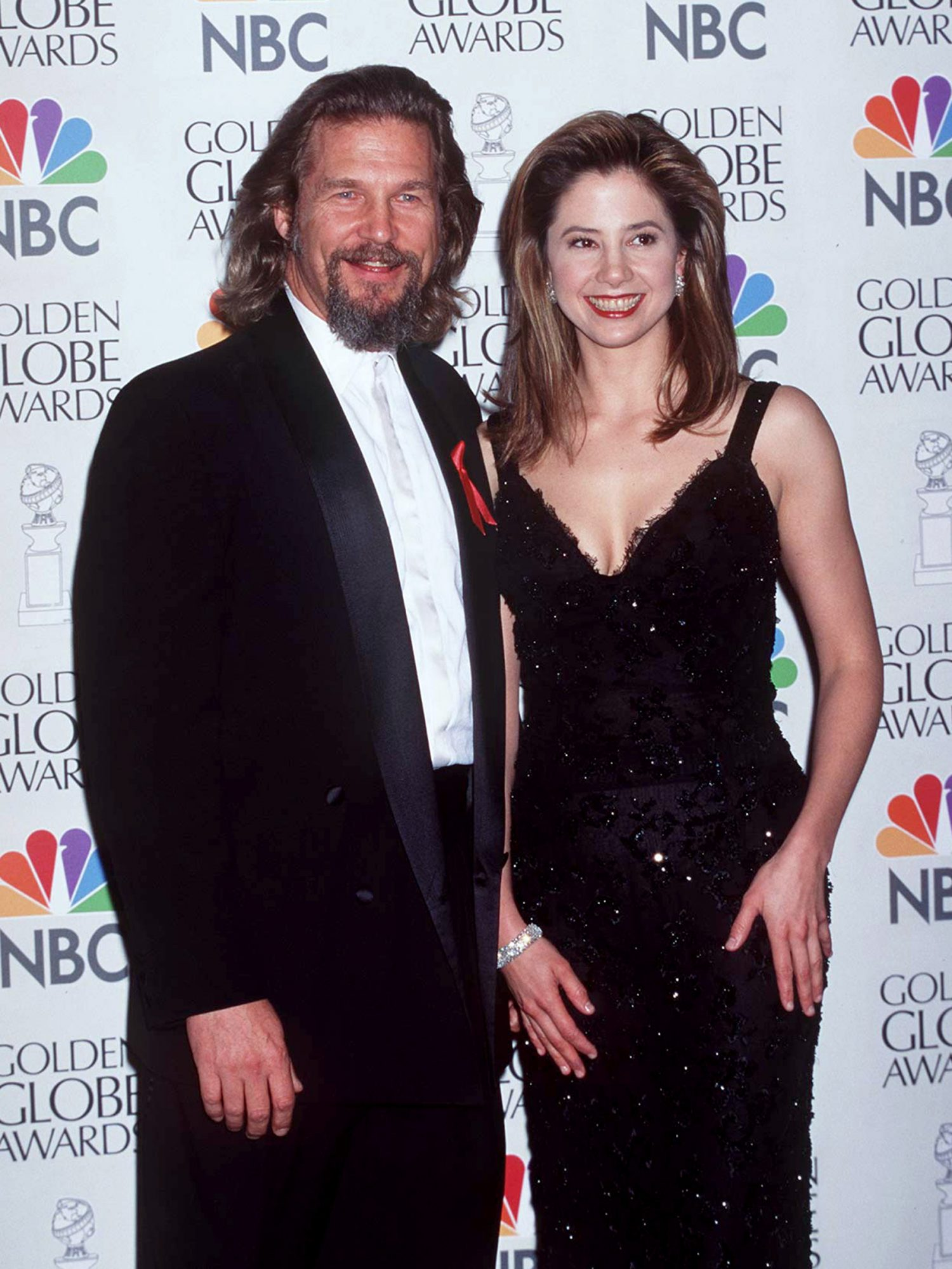 Jeff Bridges and Best Actress in a Miniseries or Television Film Nominee Mira Sorvino (Norma Jean & Marilyn)