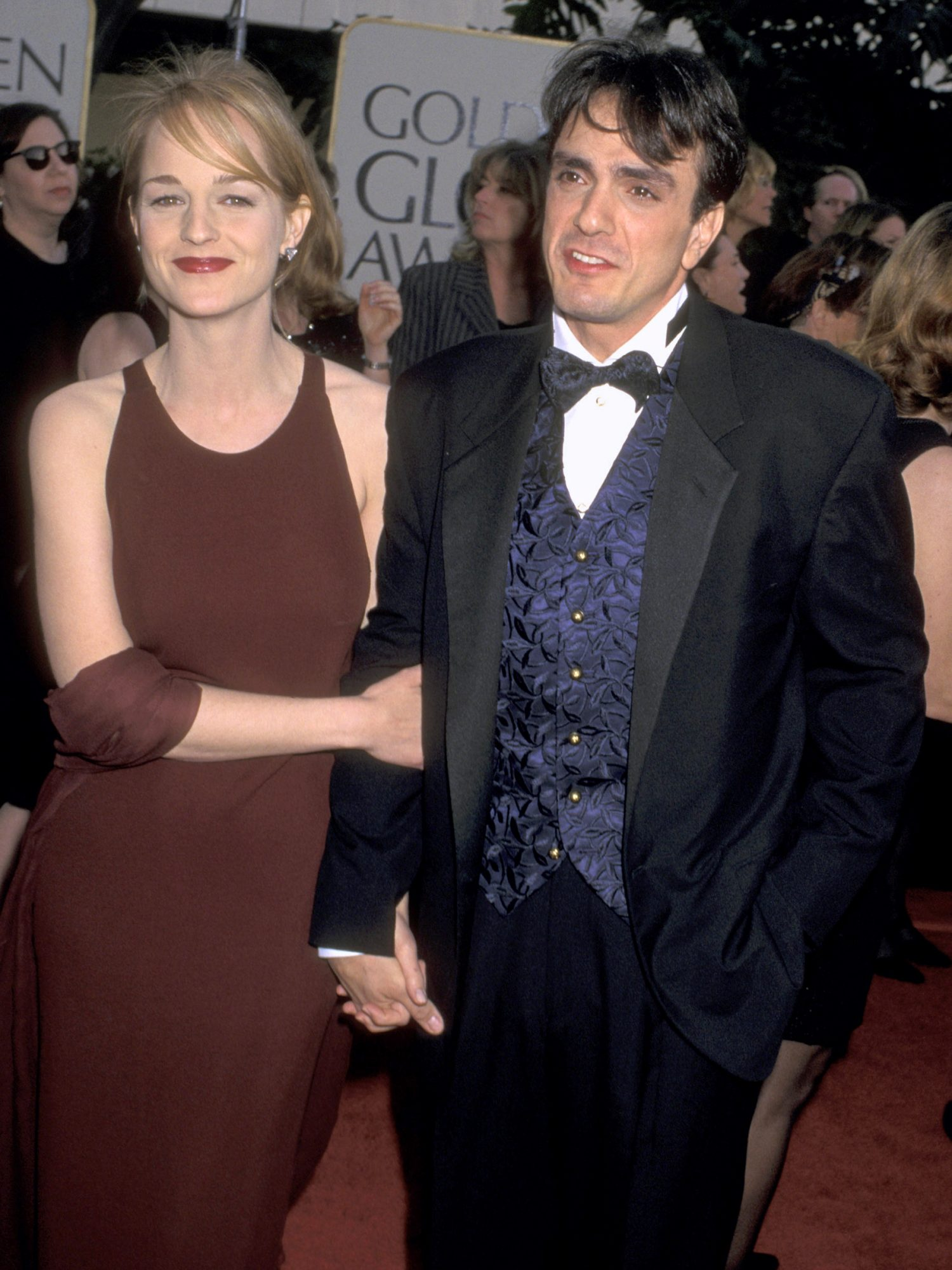 Best Actress in a Musical or Comedy Series Winner Helen Hunt (Mad About You) and Hank Azaria