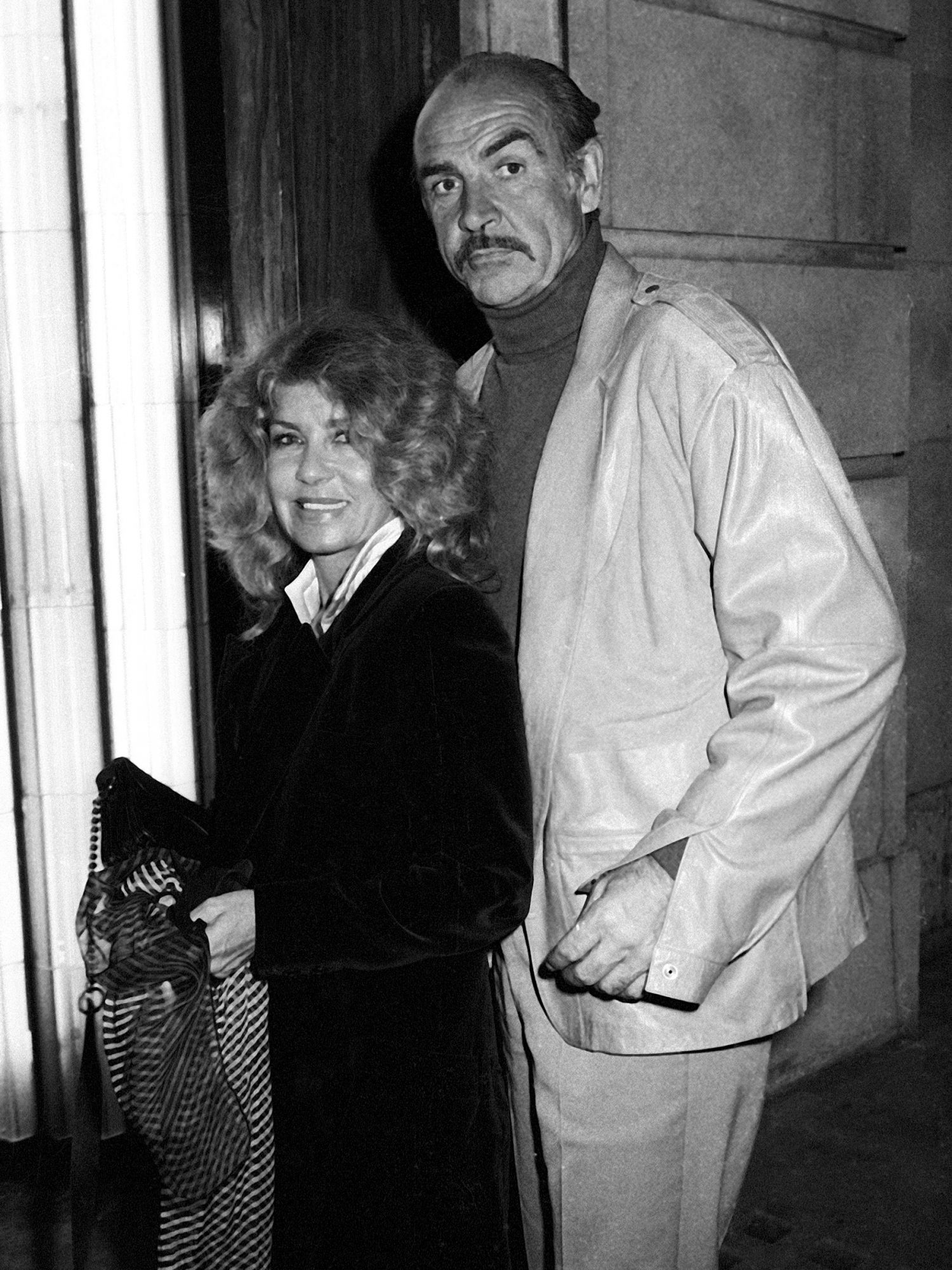 Sean Connery and wife Micheline Sighting at Langan's Brasserie - April 1988