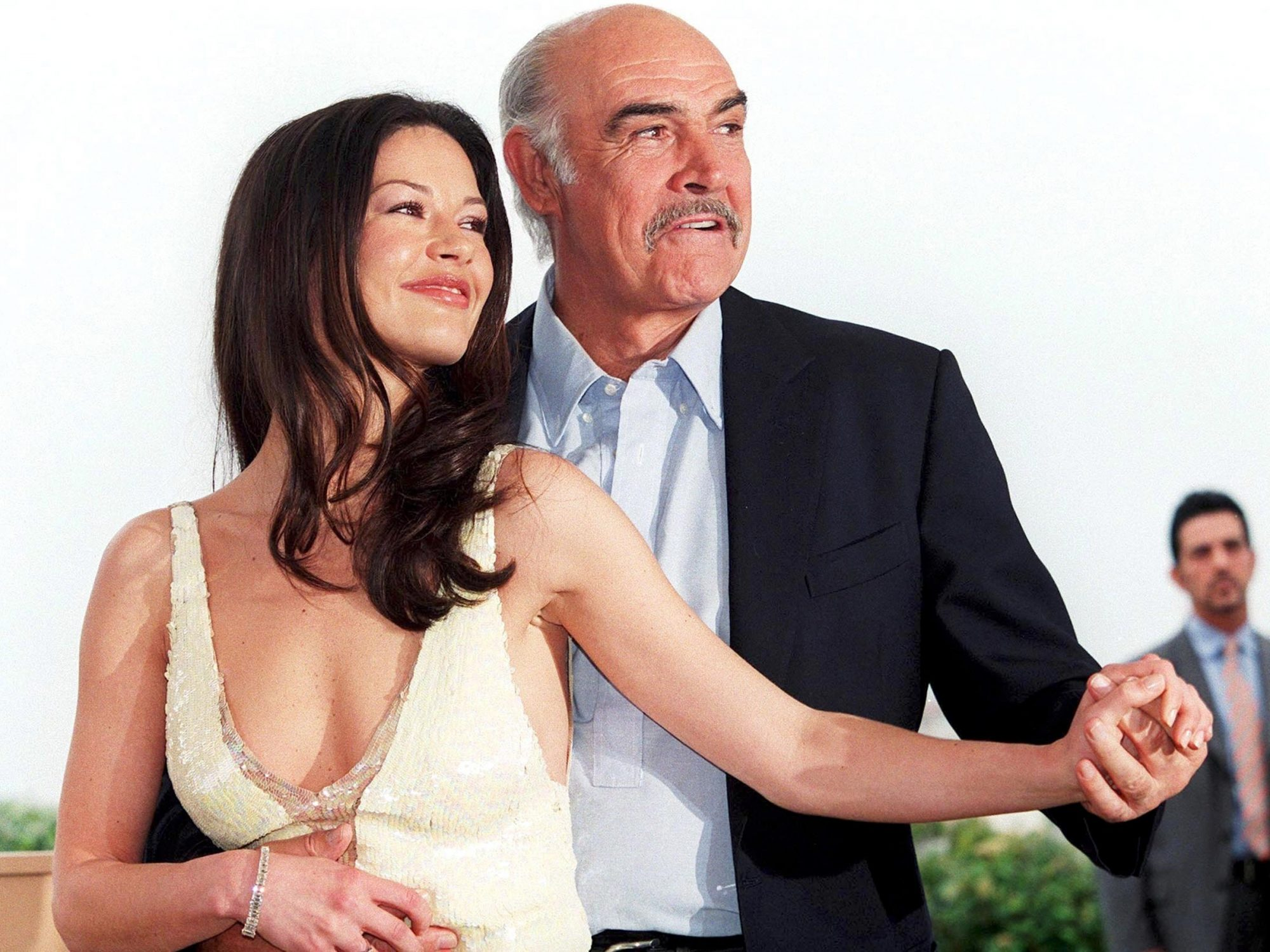 "Cannes Film Festival: ""Entrapment"" Photo-Call Of With Sean Connery And Catherine Zeta-Jones In Cannes, France On May 14, 1999-"