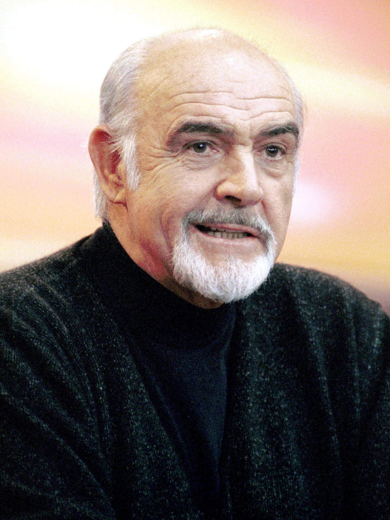 "Sean Connery In Berlin, Germany For His Last Film ""Finding Forrester"" On February 17, 2001-"