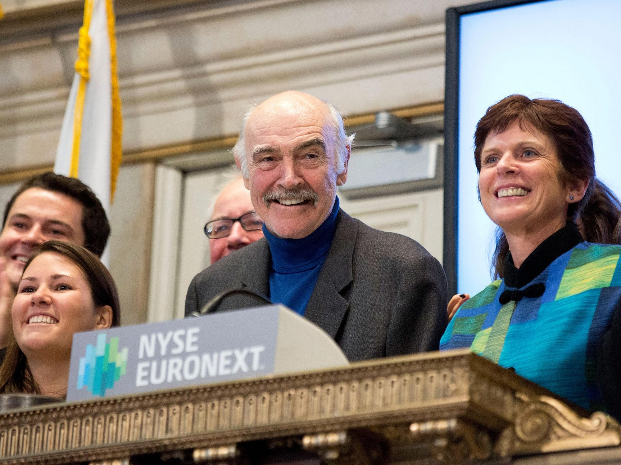 Sir Sean Connery Visits The New York Stock Exchange