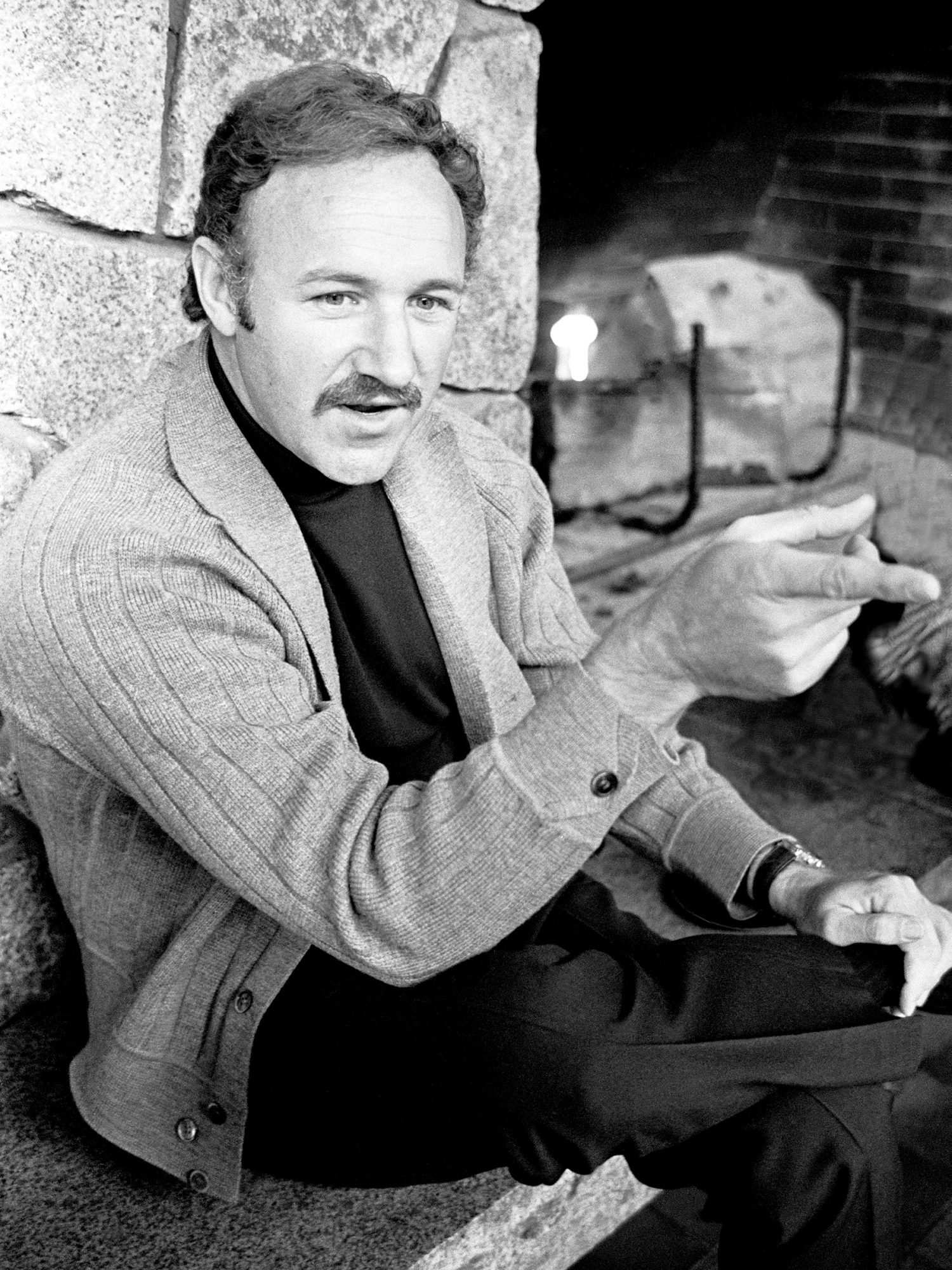Actor Gene Hackman During A Press Conference