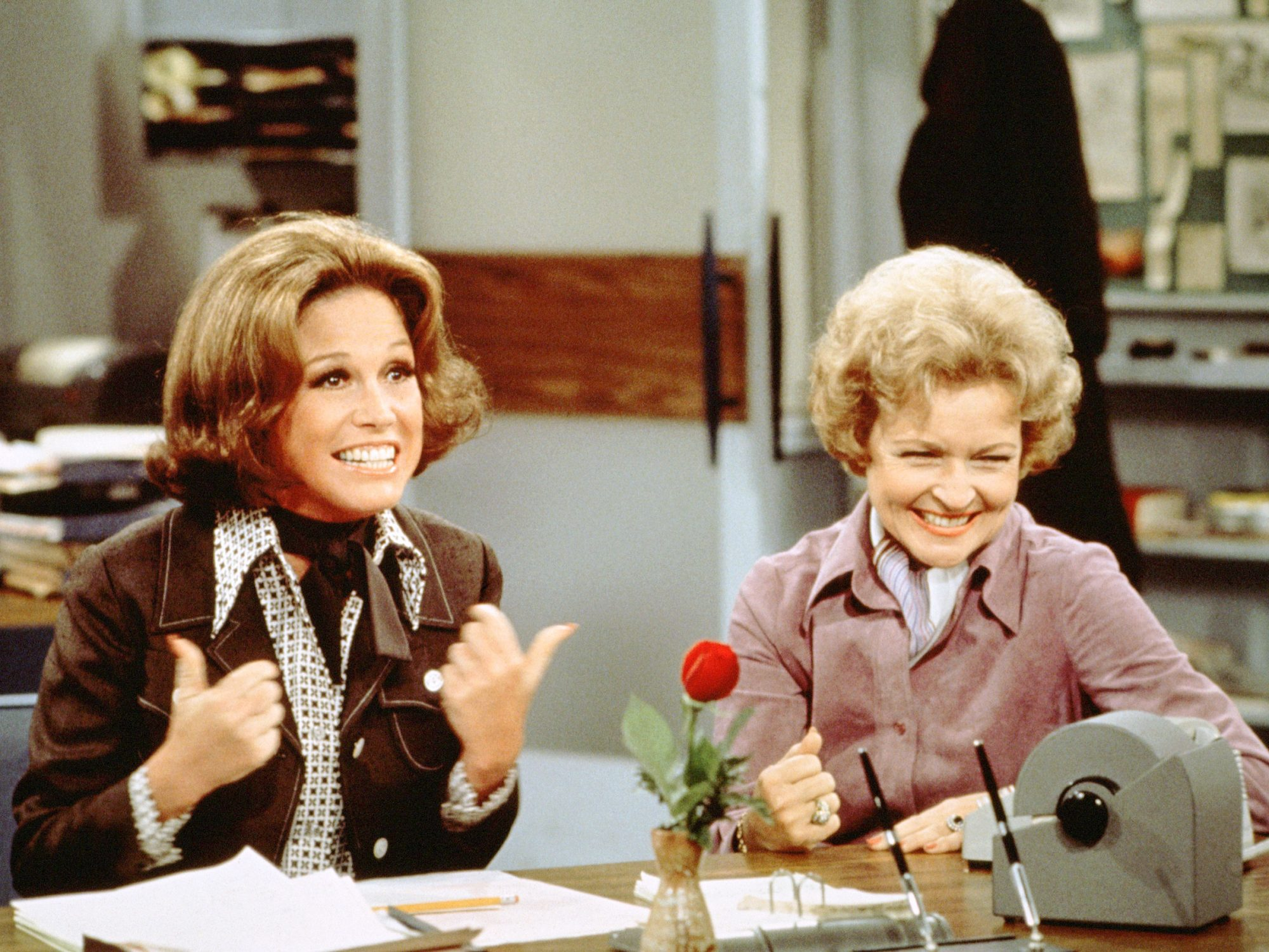 Moore & White In 'The Mary Tyler Moore Show""